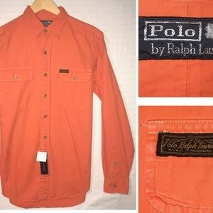 NWT Polo by Ralph Lauren Men's Sz M/L Orange Shirt